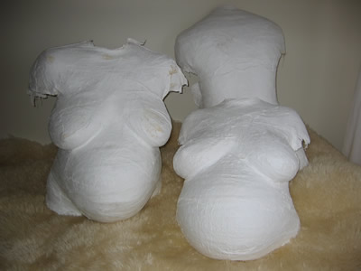 plaster of paris bellycasts